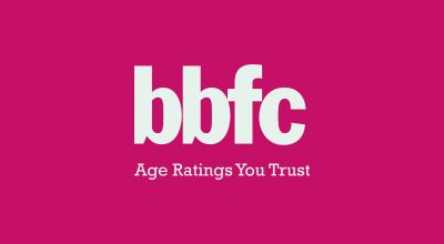 A picture of the British board of film classification logo