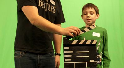 Children learning to make film at Phoenix