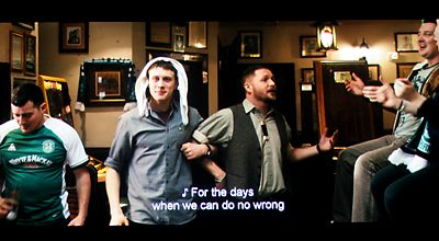 An image from a film with descriptive subtitles