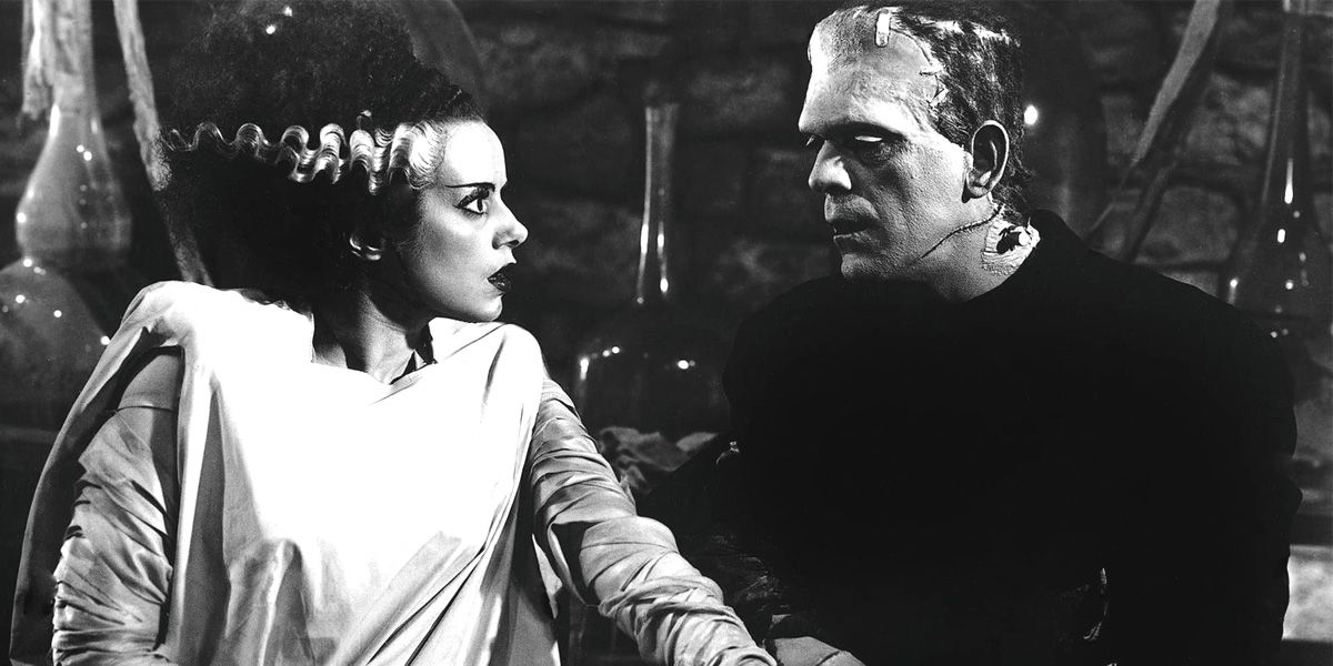 Frankenstien's monster and his bride.