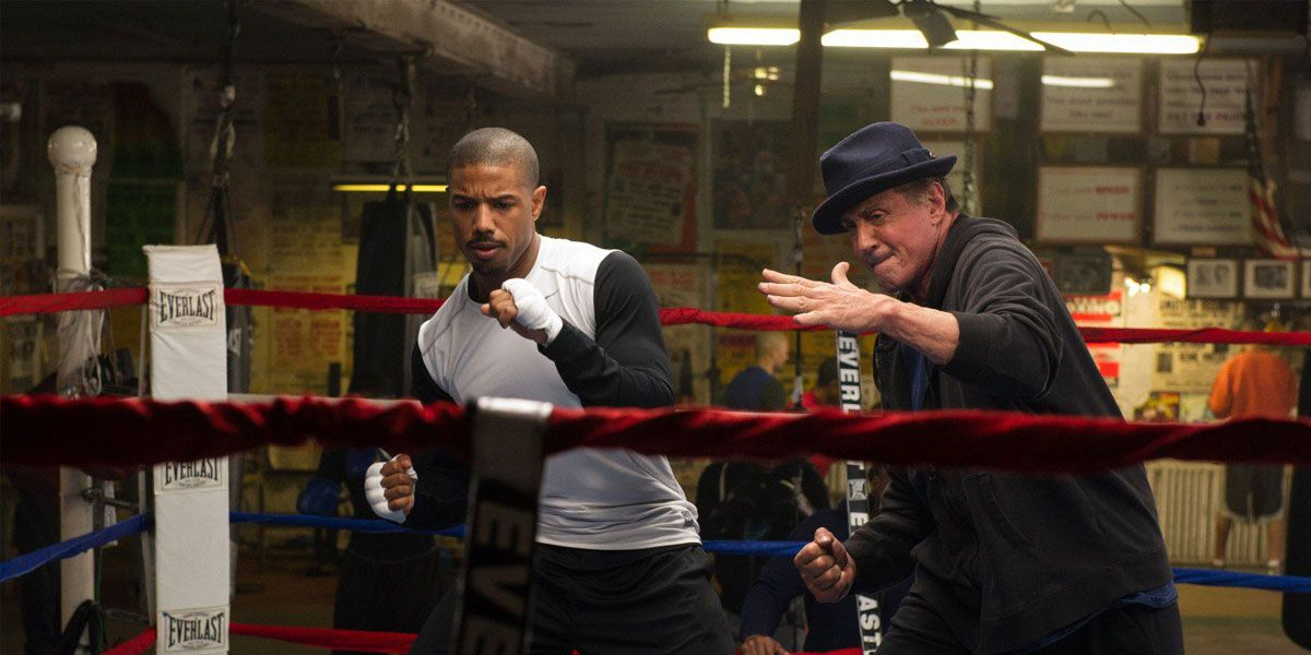 Creed stars Sylvester Stallone and Michael B. Jordan.