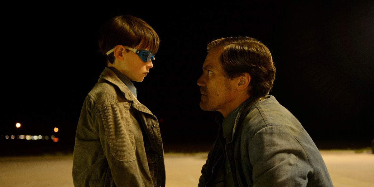 Michael Shannon talks to his son in Midnight Special