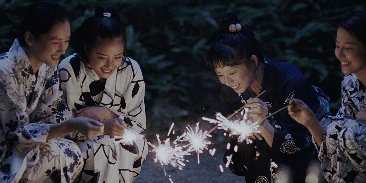 The four siblings light foreworks in Koreeda's Our Little Sister