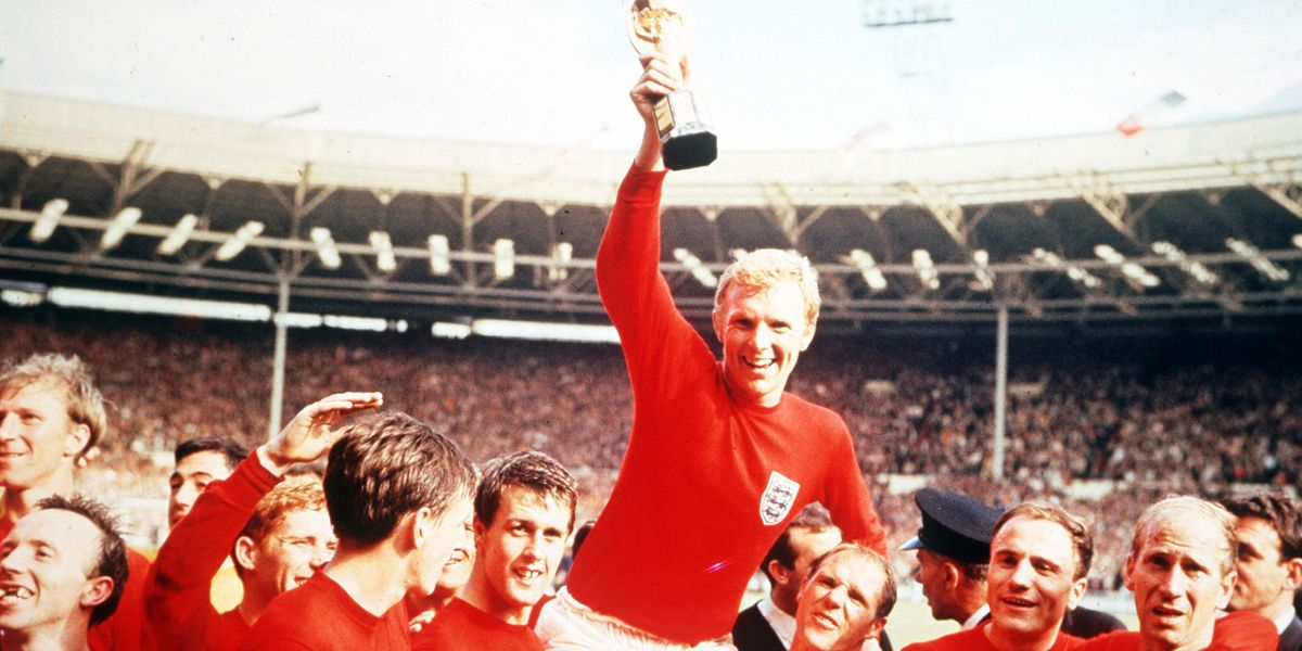 Bobby Moore holding aloft the World Cup, a clip fro mWorld Cup '66 Minute by Minute