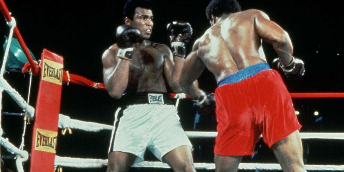 Muhammad Ali fights George Foreman in When We Were Kings
