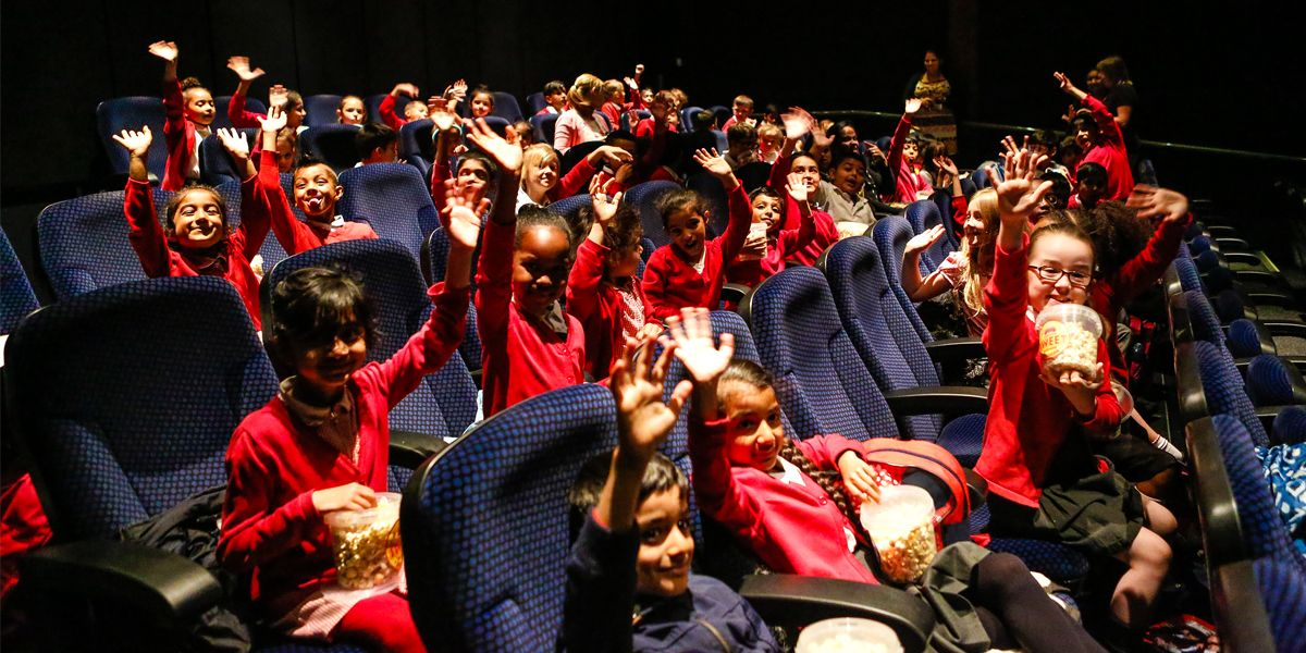 School children enjoying a screening in Screen 2