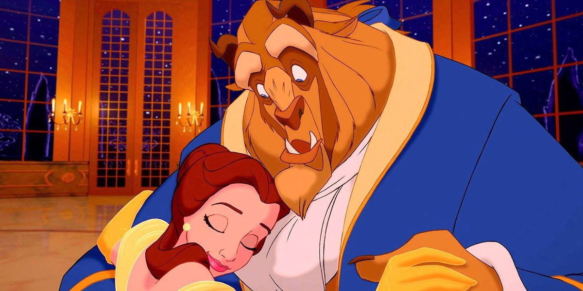 In Disney's 1991 classic Beauty and the Beast embrace