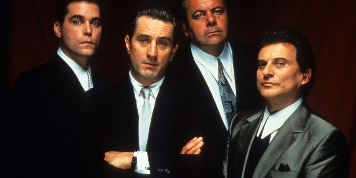 The Goodfellas in Martin Scorsese's film stare at the camera