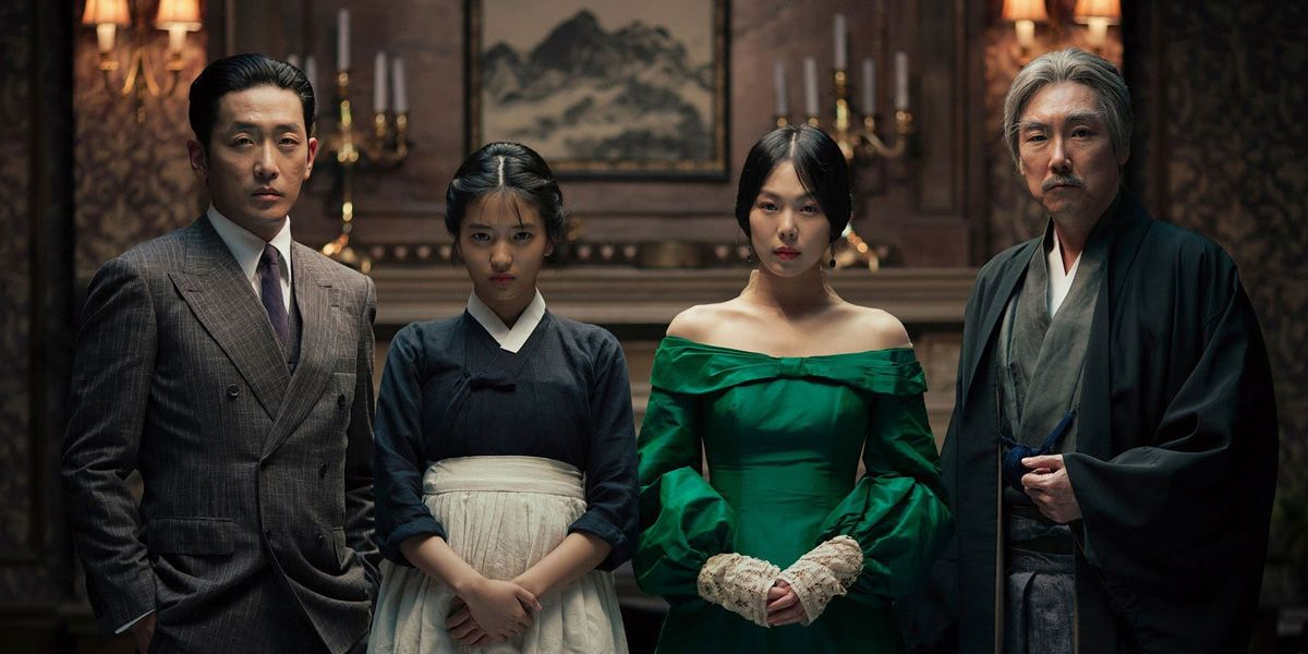 The cast of Park Chan-Wook's new film The Handmaiden stare at the camera