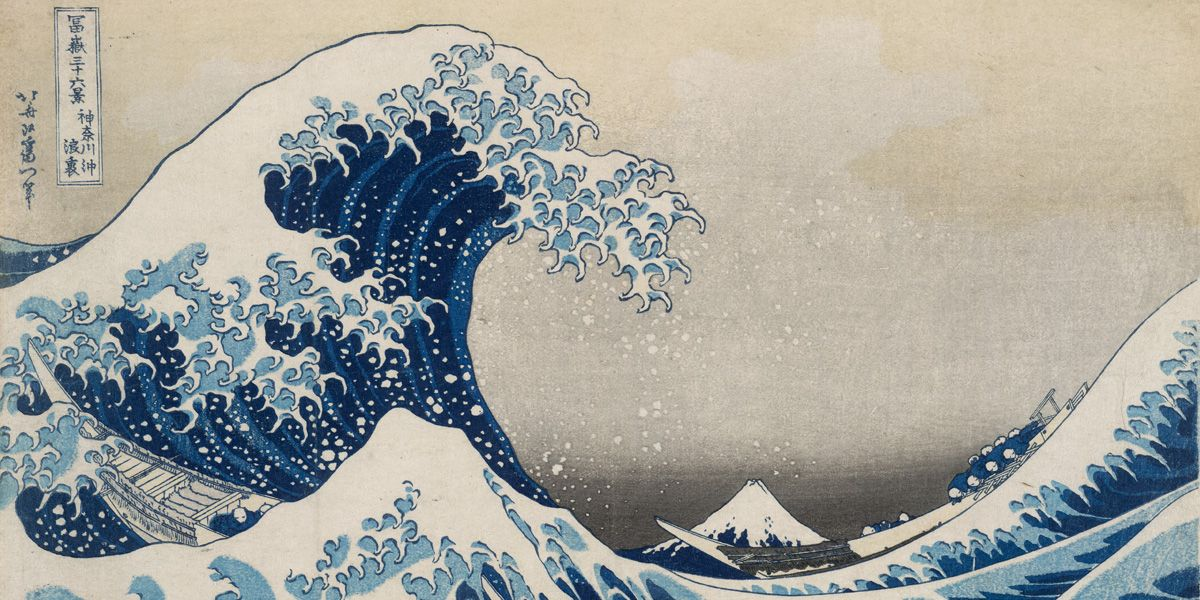 An image of Hokusai's famous The Great Wave as part of British Museum: Hokusai