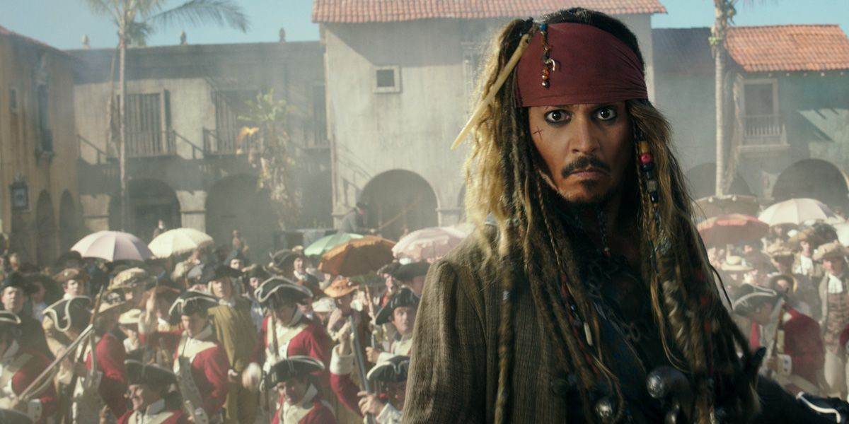 Johnny Depp in Pirates of the Caribbean: Salazar's Revenge