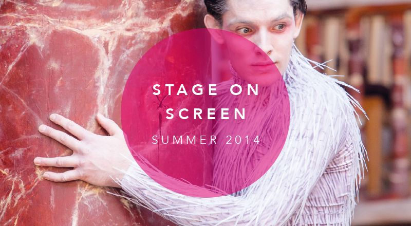 A picture of stage on screen logo for summer 2014