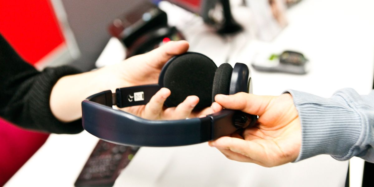 A picture of access cinema headphones