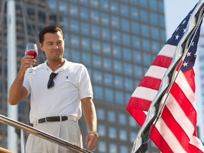 A picture still from wolf of wallstreet