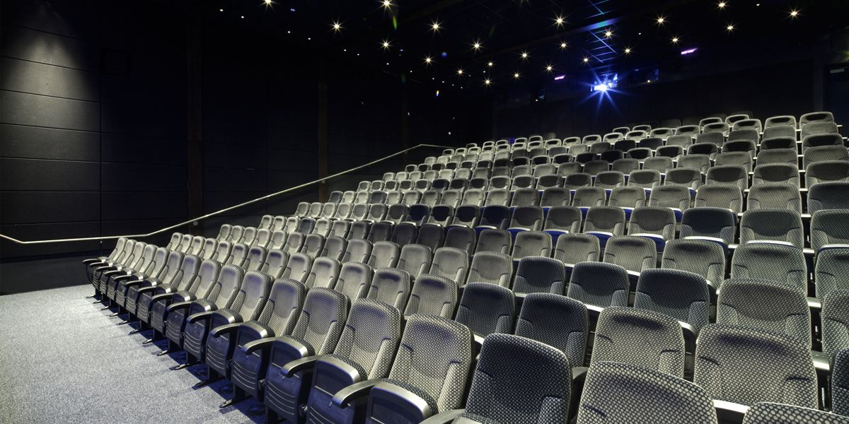 A picture of a cinema screen at phoenix available for hire