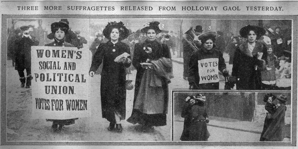 'Votes for women', Suffragette slogan