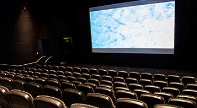 A cinema screen at Phoenix Leicester
