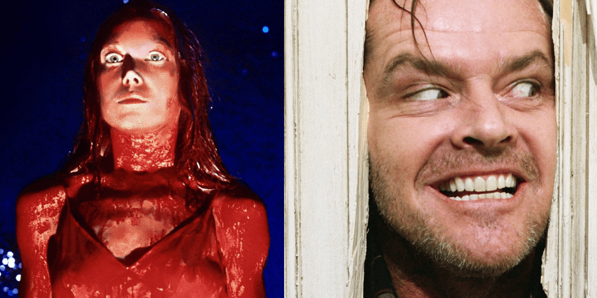 Stephen King film adaptations Carrie and The Shining.