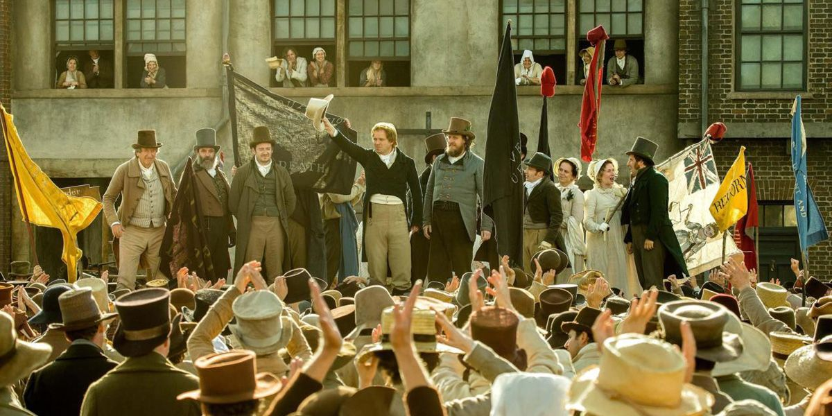 Mike Leigh's political drama Peterloo.
