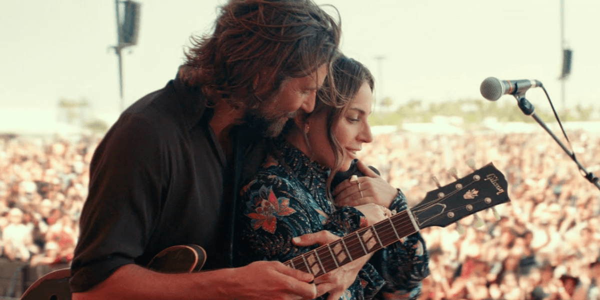 Bradley Cooper and Lady GaGa in musical romance A Star is Born.