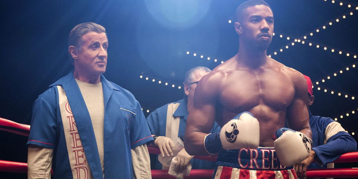 Michael B. Jordan and Sylvester Stallone in Creed II.