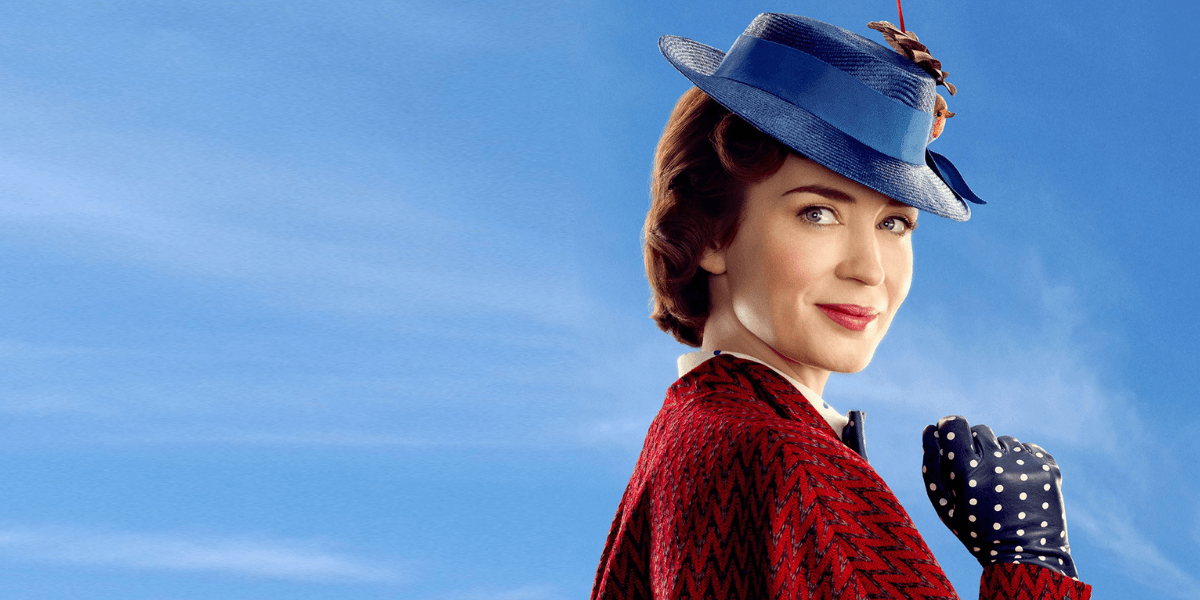 Emily Blunt in Disney family adventure Mary Poppins Returns.