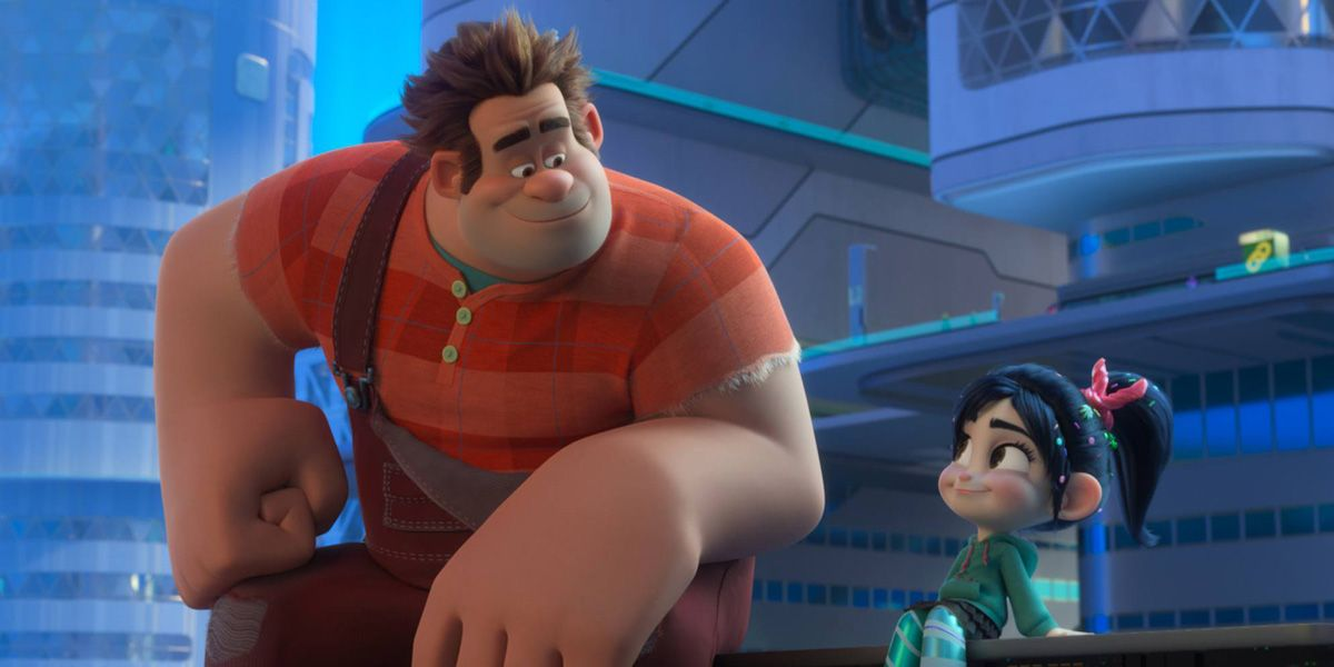 John C. Reilly as loveable bad guy Wreck-it Ralph in Ralph Breaks the Internet.