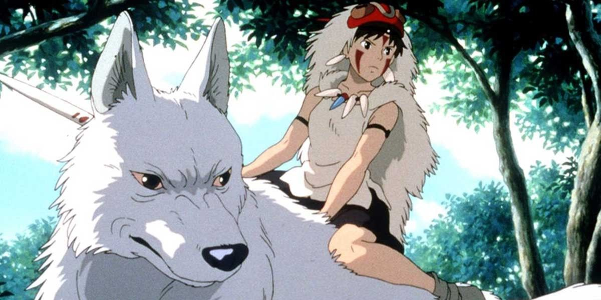 A still from the Studio Ghibli film Princess Mononoke