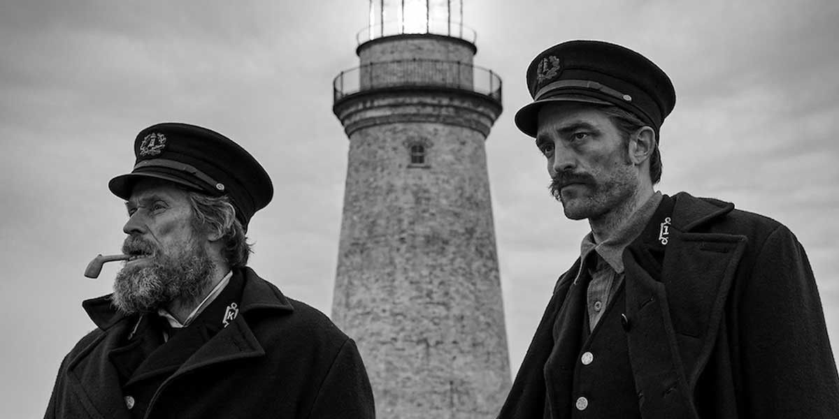 William Dafoe and Robert Pattinson in The Lighthouse