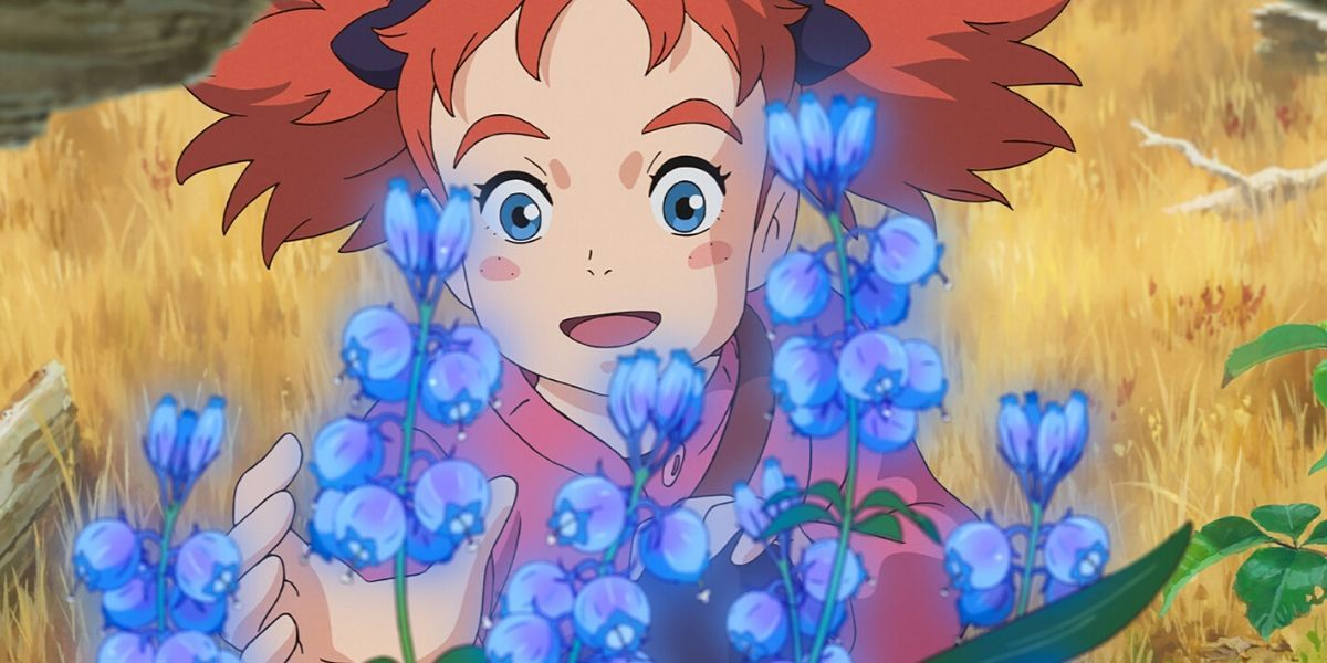 An image from the animated film Mary and the Witch's Flower