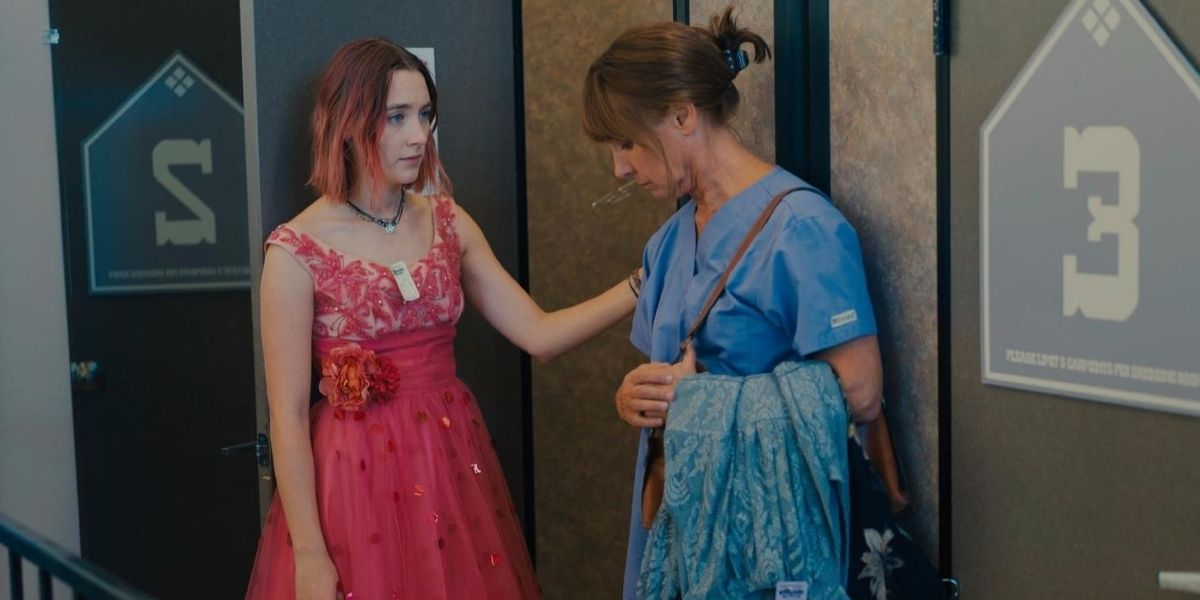 A medium shot of a mother and daughter from the film Lady Bird