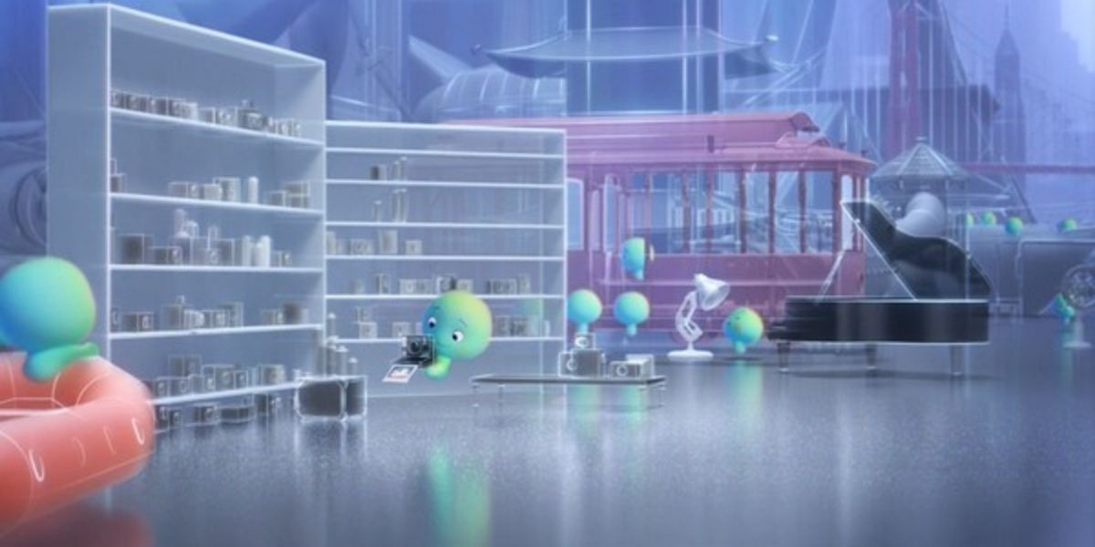 An establishing shot from the animated film Soul