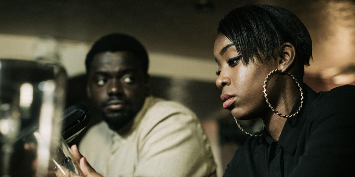A medium shot of a man and a woman at a bar from the short film 2 Single Beds