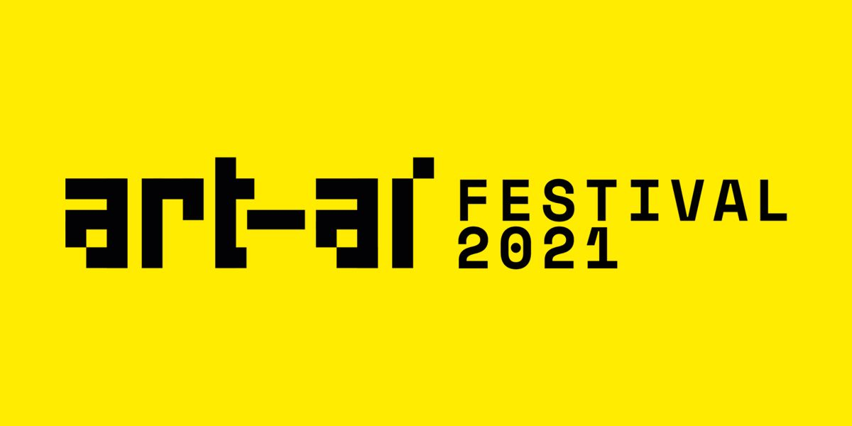 Black text on yellow background reading 'ART-AI-Festival 2021'