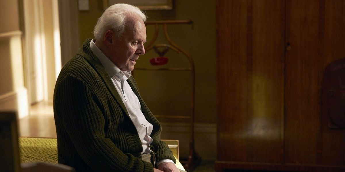 A medium shot of Anthony Hopkins from the film The Father