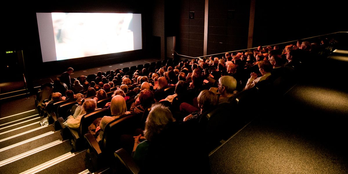 A picture of an audience watching a silver screening at phoenix