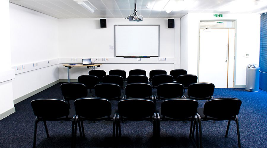 A picture of a meeting room