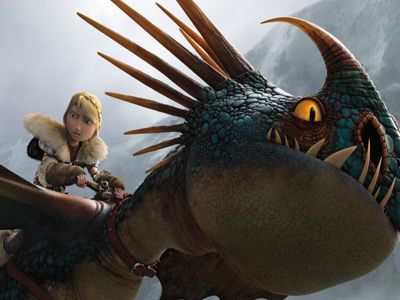 A picture still from how to train your dragon