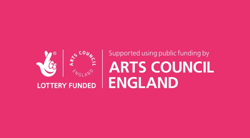 A picture of Arts Council England logo in pink