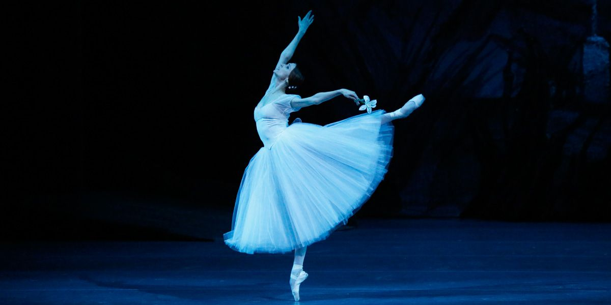 A dancer poses in Bolshoi Ballet's Giselle
