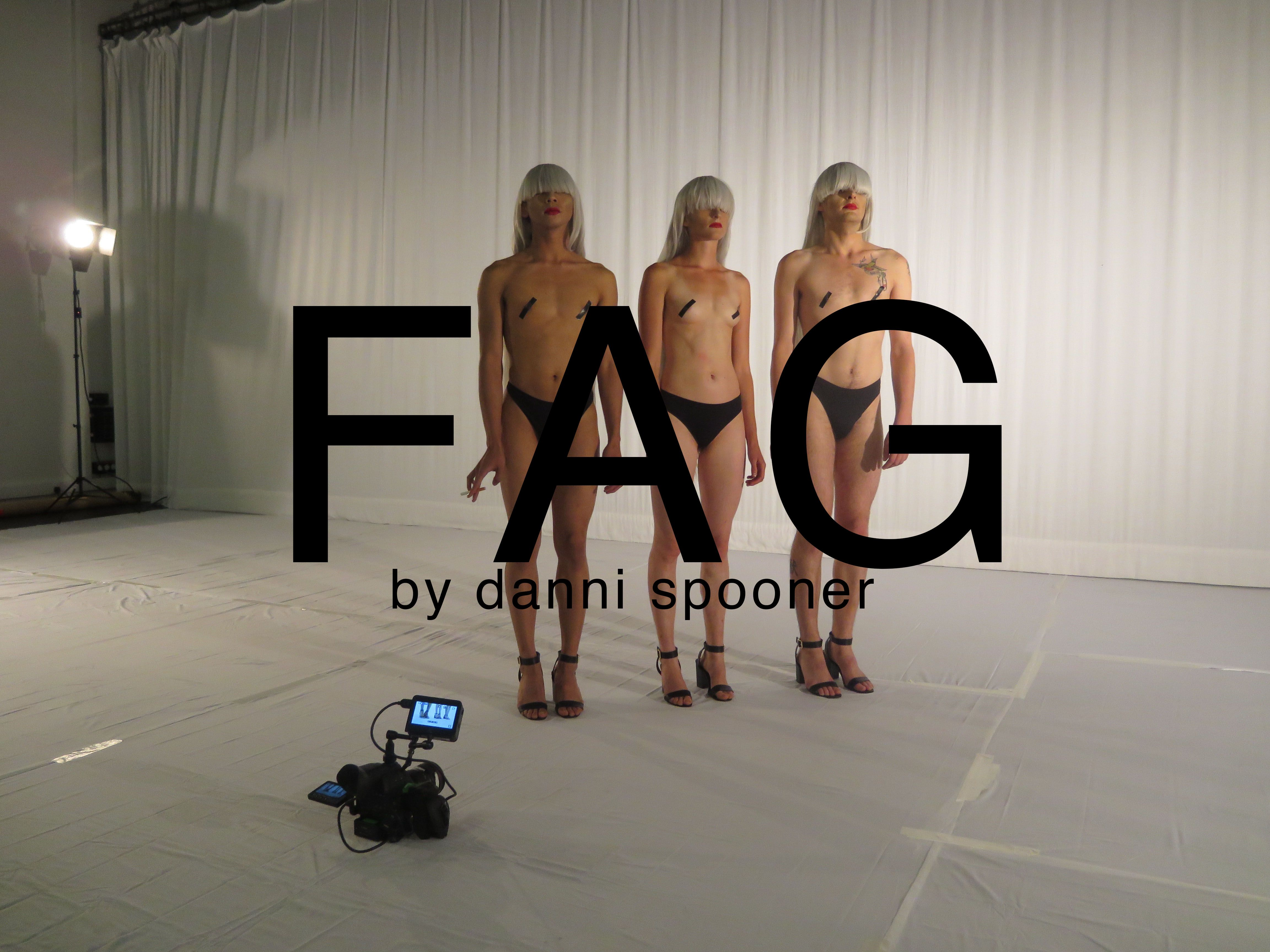 Danni Spooner FAG video image of three dancers