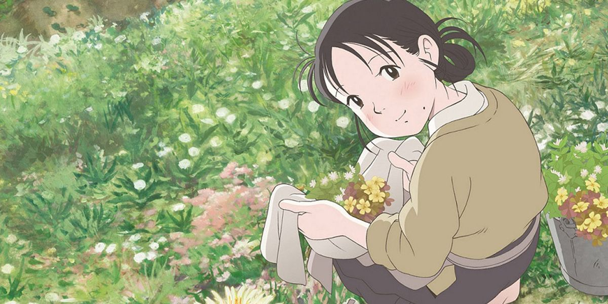 Suzu washes some clothes in In This Corner of the World