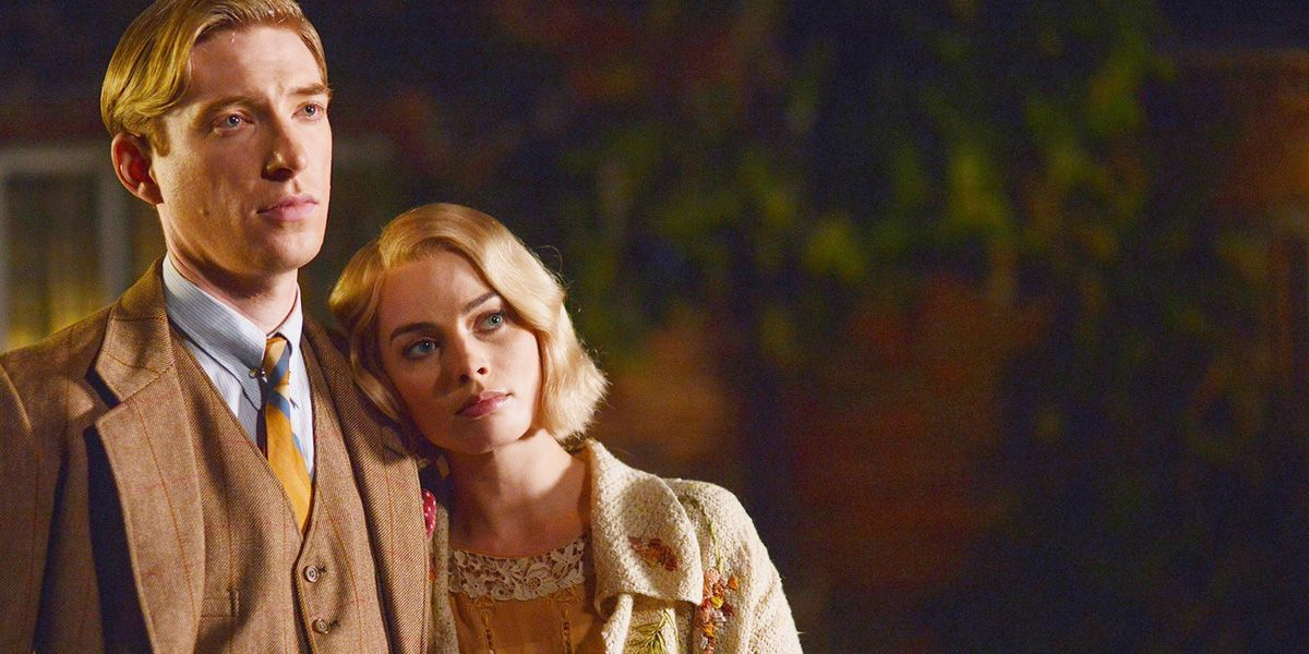 Domhnall Gleeson and Margot Robbie in Goodbye Christopher Robin