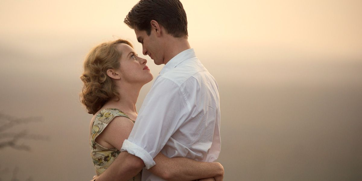 Claire Foy and Andrew Garfield in Breathe