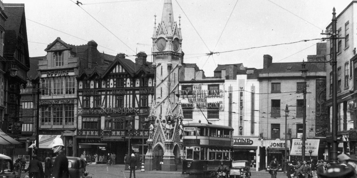 Archive photo of the Clock Tower in Leicester City Centre