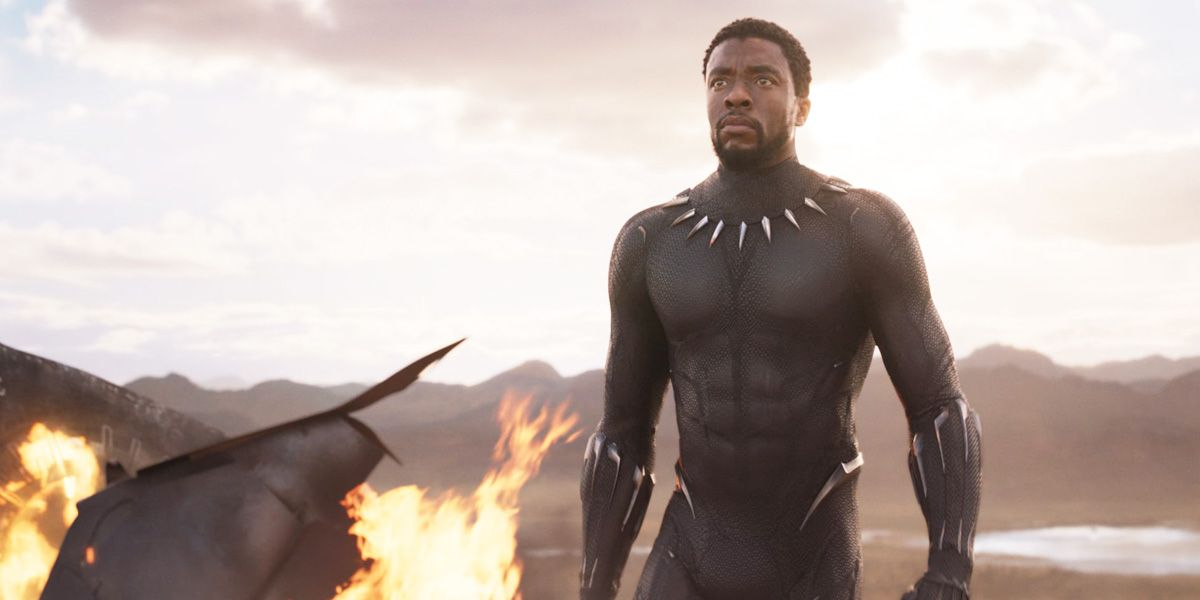 Chadwick Boseman dons the mantle of the Black Panther.
