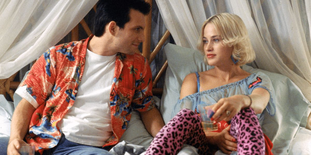 Christian Slater and Patricia Arquette in True Romance.