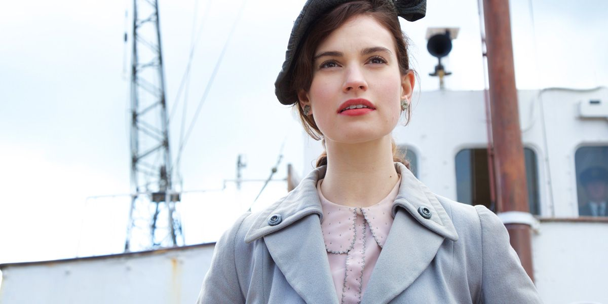 Lilly James in The Guernsey Literary And Potato Peel Pie Society