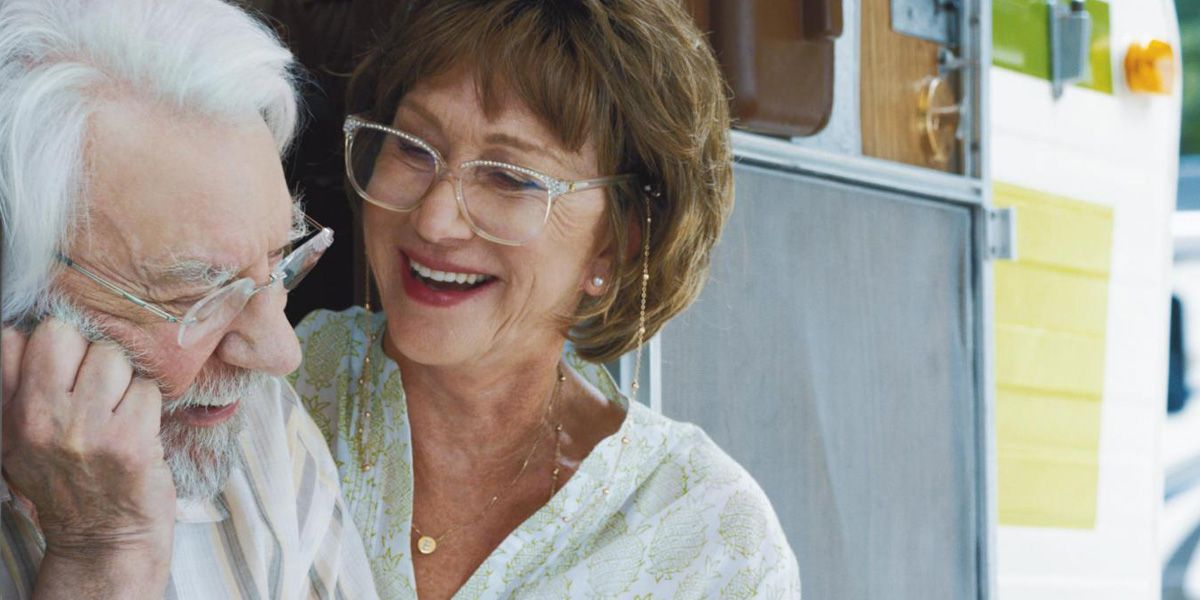 Helen Mirren and Donald Sutherland in The Leisure Seeker