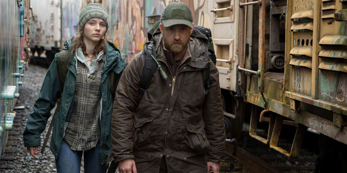 Ben Foster in Leave No Trace.